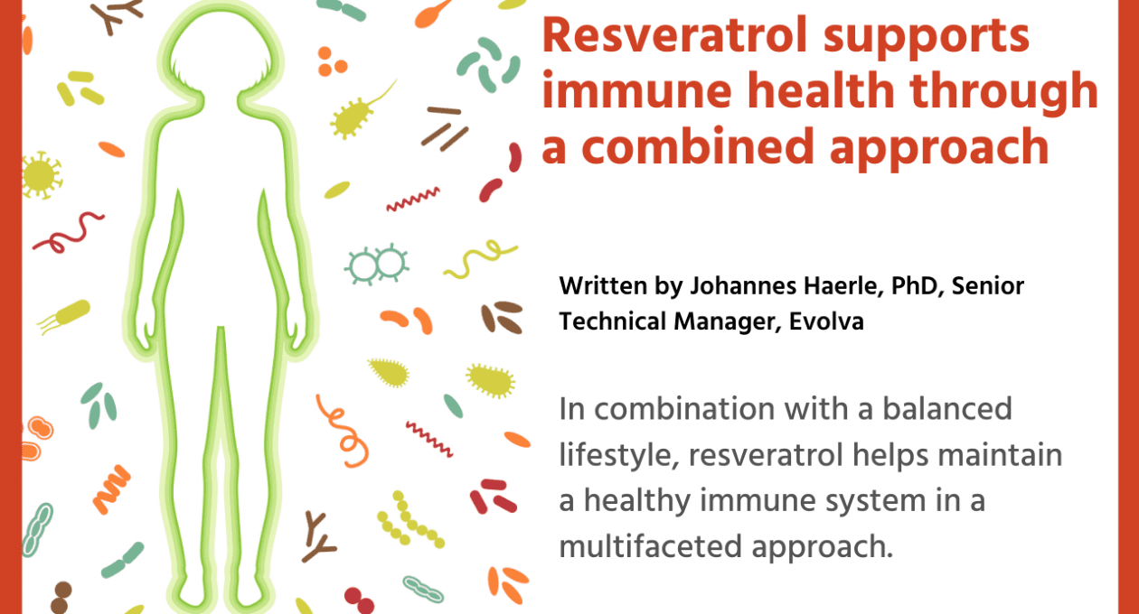 Resveratrol supports immune health through a combined approach