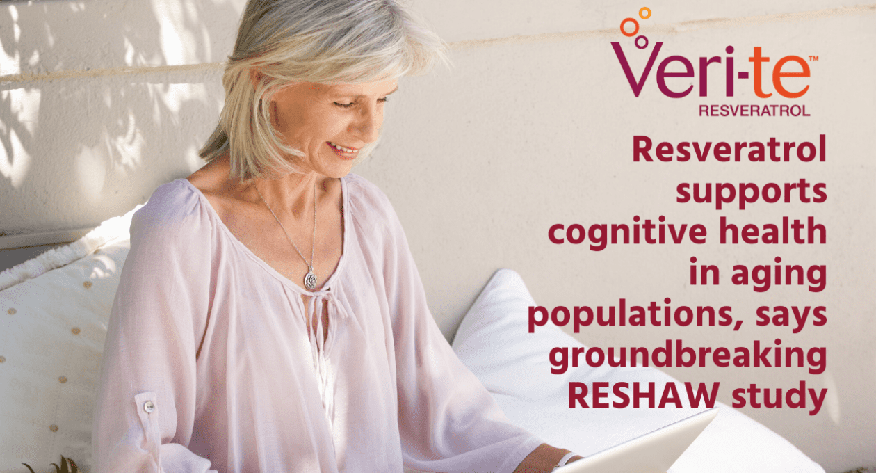 Resveratrol supports cognitive health in aging populations, says groundbreaking RESHAW study