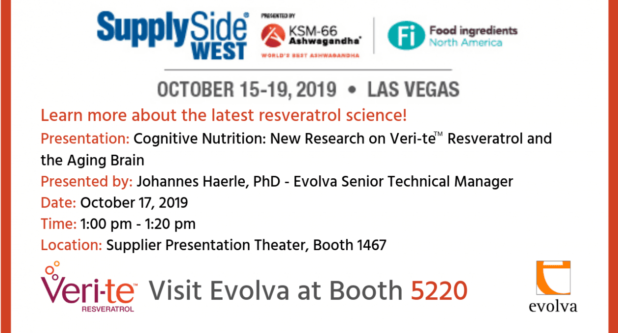 Evolva to Present Emerging Findings of Veri-te™ Resveratrol Clinical Trials in Cognition, Bone and Gut Health